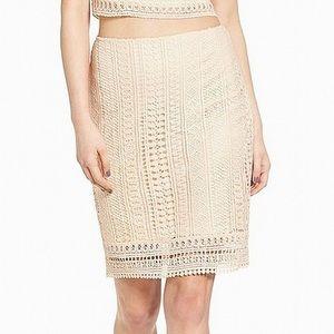 Nordstom-leith Crochet lace knee length skirt